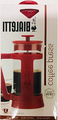 Bialetti Coffee Press Red 12 oz. New in Pkg. Nice Gift$$