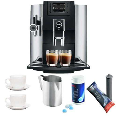 Jura 15097 E8 Automatic Epresso Coffee Maker w/ P.E.P. Techn