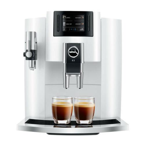 e8 smart espresso coffee machine white