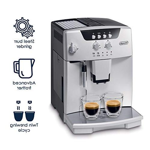 De'Longhi ESAM04110S Automatic with Manual Cappuccino System, Silver