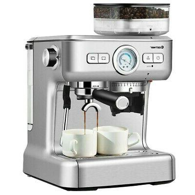 Espresso Cup With Built-in Steamer Frother And Bean New