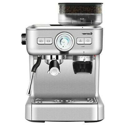 Espresso Maker 2 Cup With Frother And Bean New