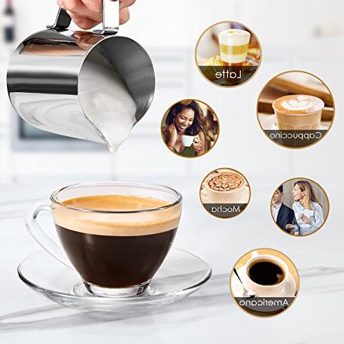 Espresso Espresso Coffee and Cappuccino Machine with Milk Frother, with Steamer,
