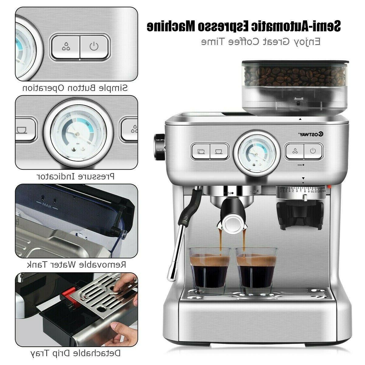Espresso Machines Coffee Frother Sliver Cups New