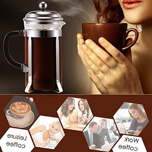 Cheesea French Press with Resistant and Steel 8