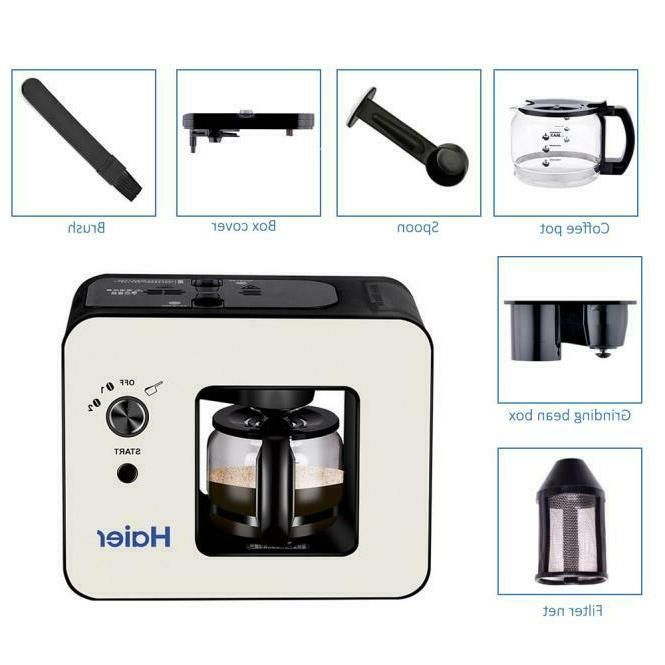 Haier Automatic Coffee Makers 4 Cup with Grinder Coffee Machines