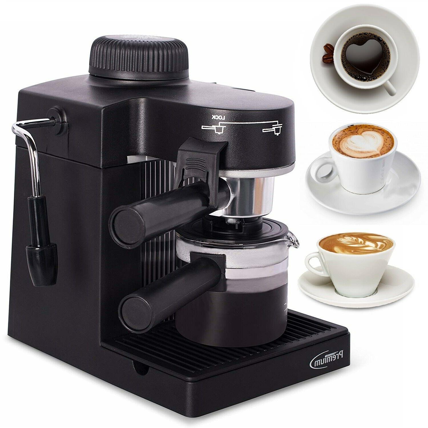 home espresso machine w milk frother 4