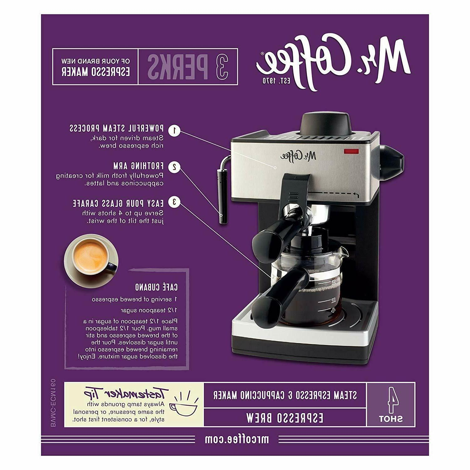 HOME MACHINE Milk Steam Cappuccino Latte Coffee Maker