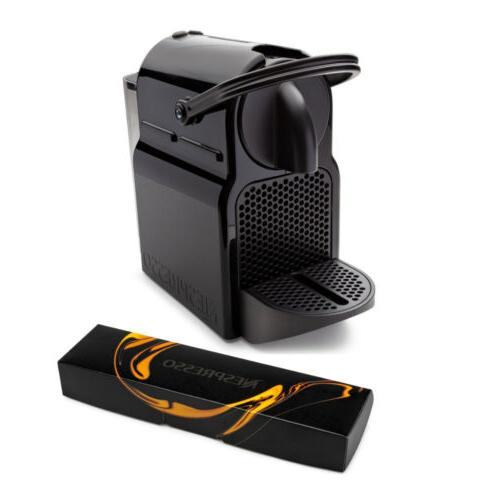 inissia espresso maker black and coffee capsules