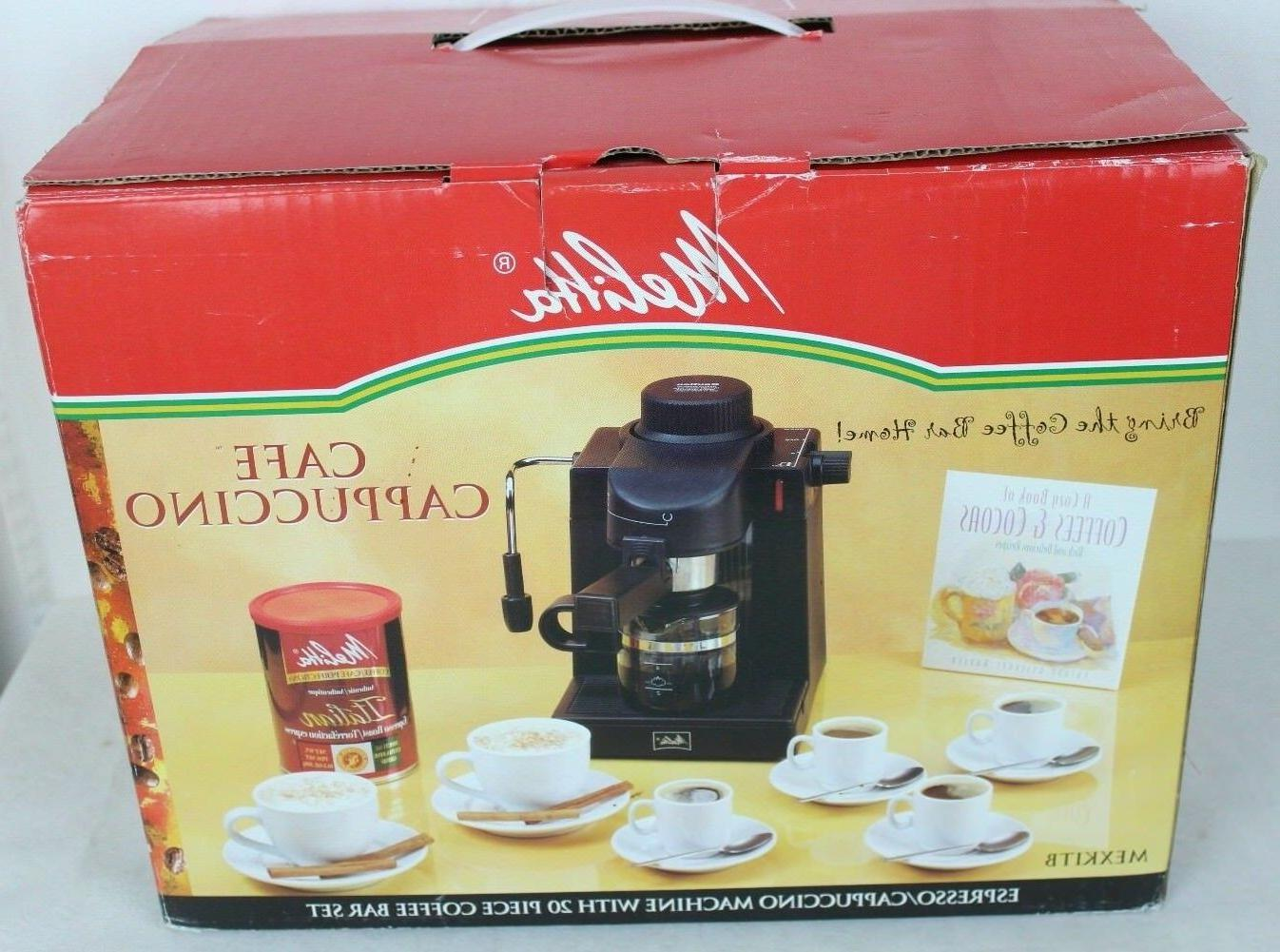 Melitta MEXKITB Maker with 20-Piece Kit Cappuccino New