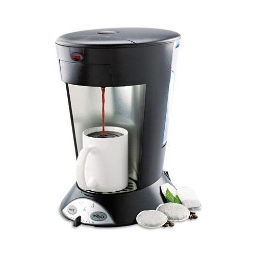 """Bunn-O-Matic My Cafe Commercial Pod Brewer, 8""""x10-1/2""""x12-1/2"""", STST/BK"""
