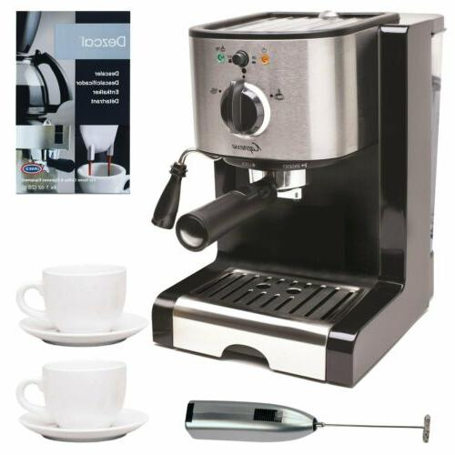 pump espresso and cappuccino machine with frother