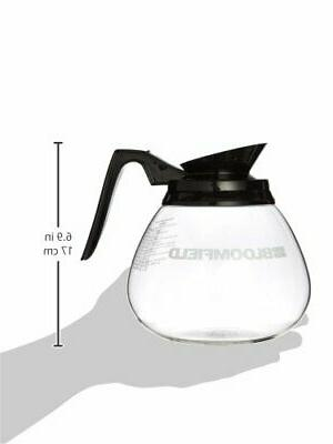 Bloomfield REG10112BLK Glass Decanter with Black