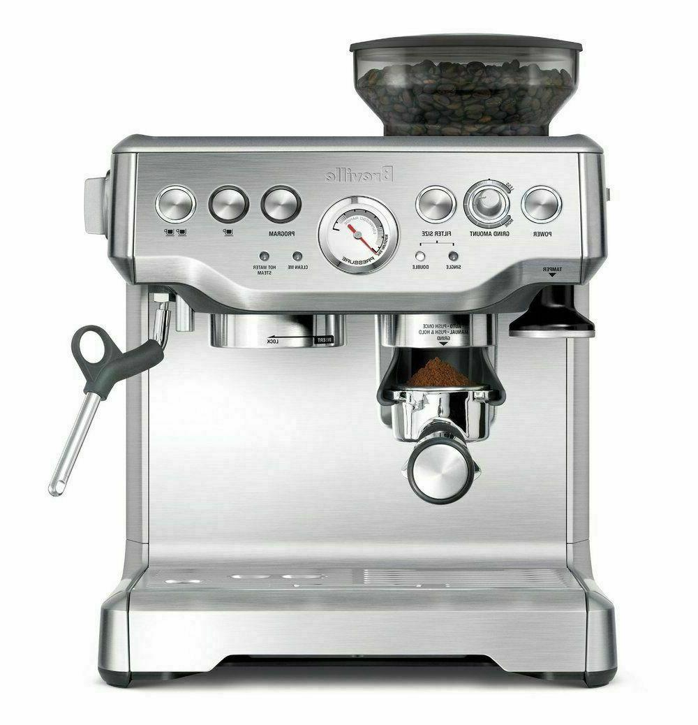 the barista express espresso machine bes870xl brushed