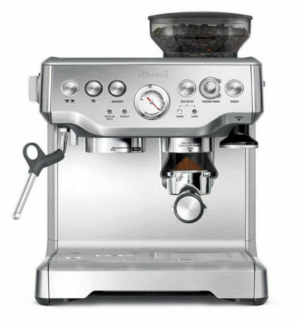 the barista express espresso machine brushed stainless