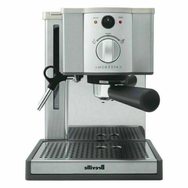 the cafe roma espresso machine brushed stainless
