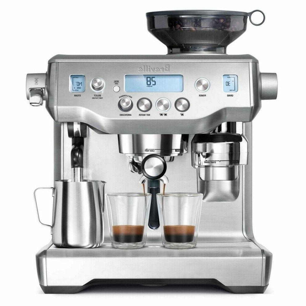 the oracle expresso machine brushed stainless steel