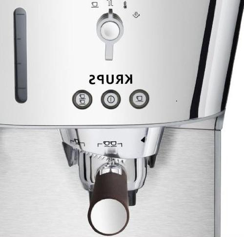 KRUPS Silver Collection Pump Espresso Machine with KRUPS Precise Tamp Technology and Stainless Housing,