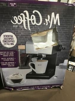 MR Coffee Black Espresso Maker with Built in Frothing Wand C