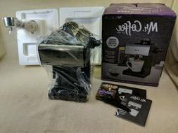 MR Coffee Espresso Maker with Built in Frothing Wand Black