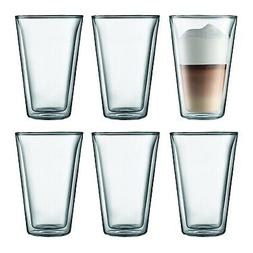 New Bodum Canteen Large Double Wall 13.5oz Glasses - Set of