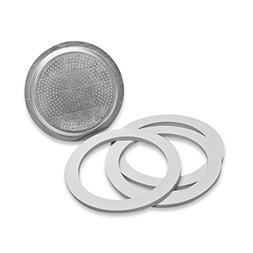 Replacement Gaskets & Filter Set for Bialetti Moka Express 6
