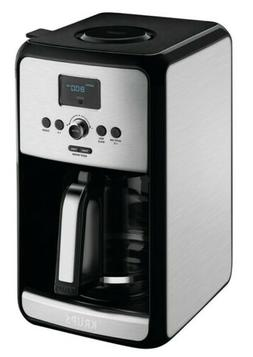 KRUPS Savoy 12-Cup Programmable Black Stainless Turbo Coffee