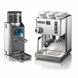 Rancilio Silvia M V5 and Rocky Bar Combo - Doserless