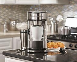 Single Serve Scoop Coffee Maker Machine Espresso Stainless S