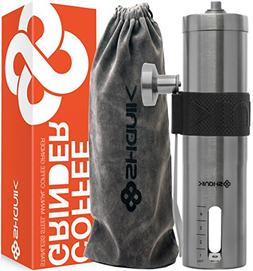Premium Quality Stainless Steel Manual Coffee Grinder - Port