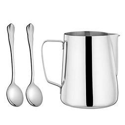 LIANYU Frothing Pitcher, Stainless Steel 12 oz Milk Steaming