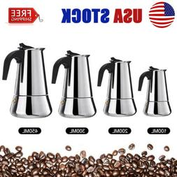 Stainless Steel Moka Espresso Coffee Pot Maker Percolator St