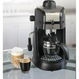 Steam PRO Espresso Maker/4-Cup Coffee Maker - Black/Stainles