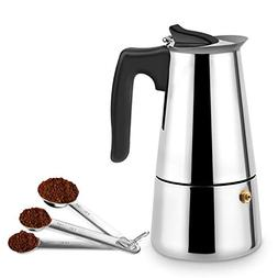 Stovetop Espresso Maker Stainless Steel Moka Pot Coffee Make