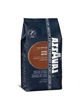 Lavazza Super Crema Whole Bean Coffee Blend, Medium Espresso