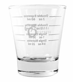 white lined espresso shot glass measure